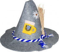 Bayerischer Oktoberfest-Hut grau-bunt