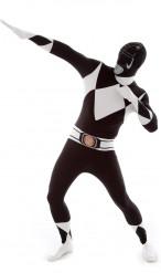 Power Rangers Morphsuit Lizenzware schwarz-weiss