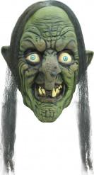 Fiese Hexe Halloween Latex-Maske Zauberin grün