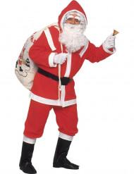 Deluxe Weihnachtsmann-Herrenkostüm Nikolaus rot-weiss-schwarz