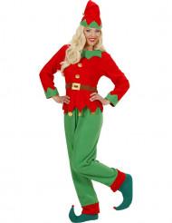 Weihnachtswichtel Kostüm für Damen rot-grün