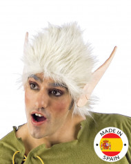 Elfen Perücke mit Ohren blond-beige