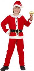 Weihnachtsmann Kostüm für Jungen rot-weiss-schwarz