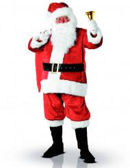 Weihnachtsmann-Erwachsenenkostüm Deluxe Nikolaus rot