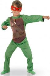 Ninja Turtles™-Kinderkostüm Lizenzkostüm grün-braun