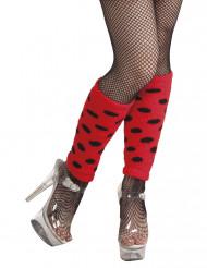 Gepunktete Beinstulpen Marienkäfer rot-schwarz