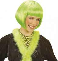 Mädchen Perücke Kurzhaarbob grün