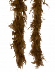 Federboa in Braun