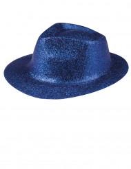 Party-Erwachsenenhut Glitzer blau