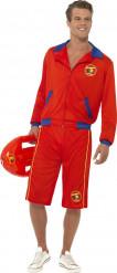 Malibu Bademeister - Kostüm für Erwachsene in kräftigem Rot