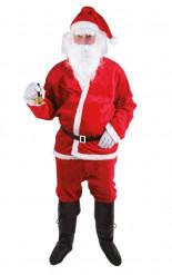 Erwachsenenkostüm Weihnachtsmann rot-weiß