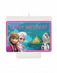 Happy Birthday kerze Die Eiskönigin Lizenzartikel bunt  9 x 7 cm