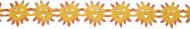 Girlande Sonne Party-Deko gelb-orange 3m