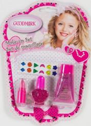 Make-Up Schminkset Glitzer Mädchen 4-teilig pink