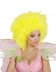 Fee Kurzhaar-Perücke neon gelb