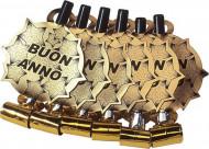 Luftrüssel Neues Jahr 6 Stück gold