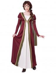 Mittelalter Damenkostüm Edeldame dunkelrot-beige