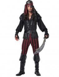 Böser Pirat Seeräuber Herrenkostüm schwarz-rot