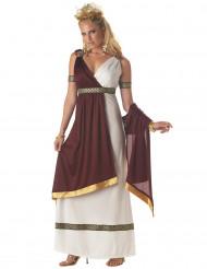 Römerin Damenkostüm Antike bordeaux-weiss