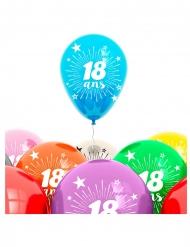 Set Luftballons 18. Geburtstag bunt