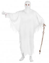 Schauriges Schlossgespenst Halloweenkostüm Geist weiss