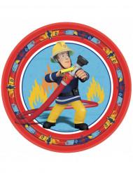 Fireman Sam Pappteller Party-Deko bunt 8 Stück 23cm
