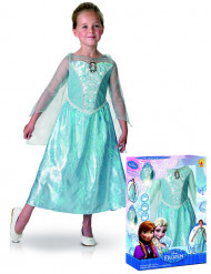 Deluxe-Verkleidung Elsa Frozen Mädchen hellblau