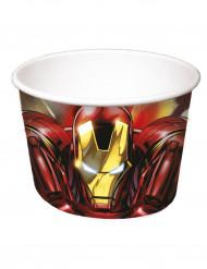 Pappschalen Party Lizenzartikel Iron Man Avengers 8 Stück bunt