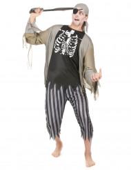 Verrückter Geister-Pirat Herrenkostüm bunt