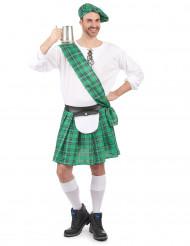 Schotten-Herrenkostüm grün-weiss