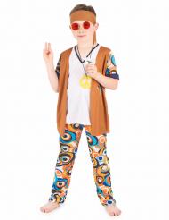 Hippie-Kinderkostüm 60er Jahre Kostüm braun-weiss-bunt
