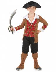 Kleiner Pirat Kinderkostüm braun-rot-schwarz