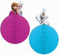 Disney Frozen Waben-Hänger Kinderparty-Deko 2 Stück bunt 25cm