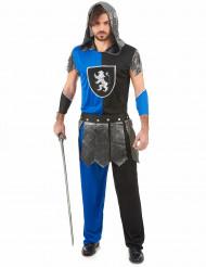 Blauer Ritter Herrenkostüm Mittelalter blau-schwarz