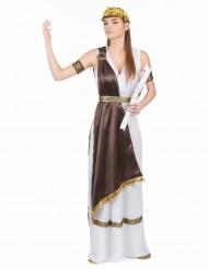 Römerin-Damenkostüm Antike weiss-braun