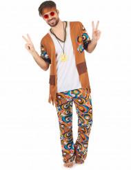 Lustiges Hippie Herrenkostüm bunt