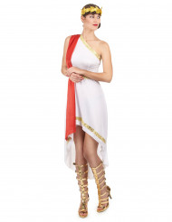 Elegante Römerin Damenkostüm weiss-rot-gold