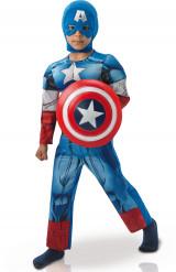 Avengers Assemble Captain America Overall Kinderkostüm Deluxe Lizenzware blau-rot-weiss