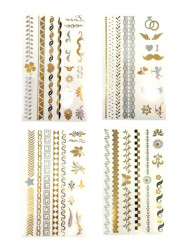 Metallic Tattoos gold-silber