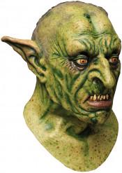 Böser Ork Halloween-Maske Fantasy grün