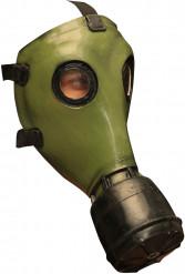Horror-Gasmaske Halloween grün-schwarz