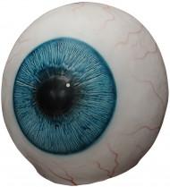 Gigantisches Auge Horror-Maske weiss-blau-schwarz