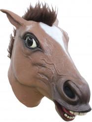 Lustige Maske Pferd für Erwachsene braun