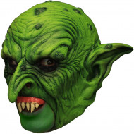 Böser Kobold 3/4 Latex-Maske grün