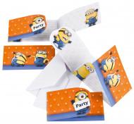 Minions Einladungskarten Party-Deko Set 6 Stück bunt
