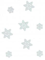 Disney Frozen Glitzer-Schneeflocken Tischdeko weiss-rosa 20g