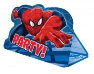Geburtstag Einladungskarten mit Umschlägen Lizenzartikel Spiderman 8 Stück blau-rot