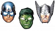 Pappkarton Masken Avengers™ 8 Stück bunt