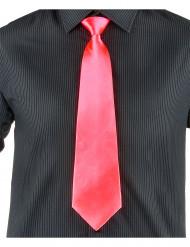 Krawatte für Erwachsene neonrosa