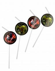 Star Wars Trinkhalme Party-Deko 6 Stück bunt 24,5cm